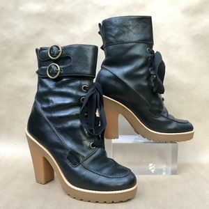 Marc by Marc Jacobs boots, black, rubber sole